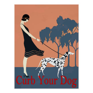 Curb your dog sign, poster