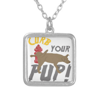 Curb Your Pup Silver Plated Necklace
