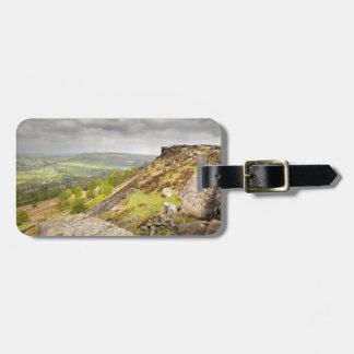 Curbar Edge in Derbyshire, the Peak District photo Luggage Tag
