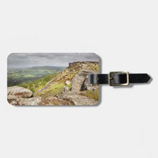 Curbar Edge in the Peak District souvenir photo Luggage Tag