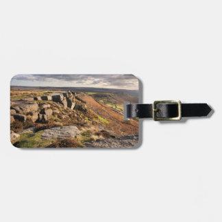 Curbar Edge on the Peak District souvenir photo Bag Tag