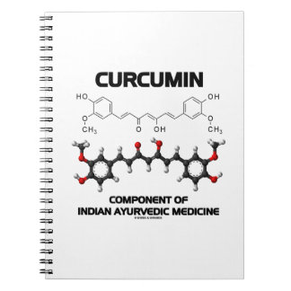 Curcumin Component Of Indian Ayurvedic Medicine Spiral Notebook