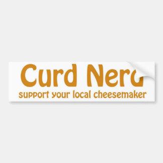 curd nerd bumper sticker