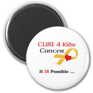 CURE 4 Kids Cancer - It IS Possible (GRP) 2 Inch Round Magnet