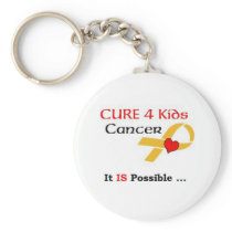 CURE 4 Kids Cancer - It IS Possible (GRP) Keychain