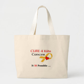 CURE 4 Kids Cancer - It IS Possible (GRP) Large Tote Bag