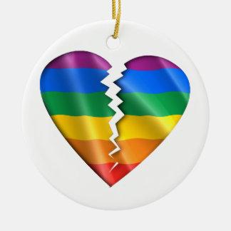 Cure a la comunidad gay adorno redondo de cerámica