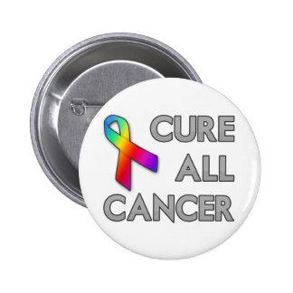 Cure a todo el cáncer pin redondo de 2 pulgadas