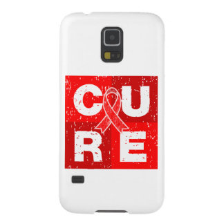 CURE AIDS HIV Distressed Cube Galaxy S5 Cases