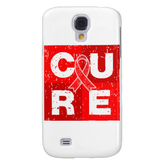 CURE AIDS HIV Distressed Cube Galaxy S4 Covers