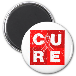 CURE AIDS HIV Distressed Cube Refrigerator Magnets
