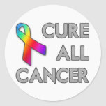 Cure All Cancer Round Stickers