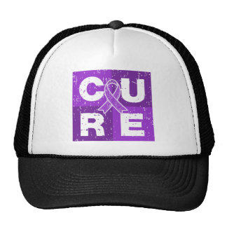 CURE Alzheimer's Disease Distressed Cube Hats