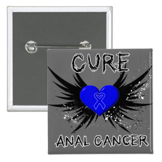Cure Anal Cancer Pinback Buttons