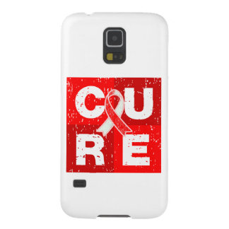CURE Aplastic Anemia Distressed Cube Cases For Galaxy S5