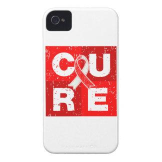 CURE Aplastic Anemia Distressed Cube iPhone 4 Case-Mate Cases