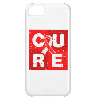 CURE Aplastic Anemia Distressed Cube iPhone 5C Covers