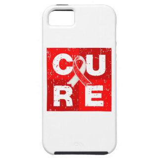 CURE Aplastic Anemia Distressed Cube iPhone 5 Cases