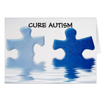CURE AUTISM GREETING CARD