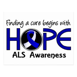 Cure Begins With Hope 5 ALS Postcard