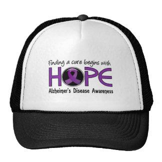 Cure Begins With Hope 5 Alzheimer's Disease Trucker Hat