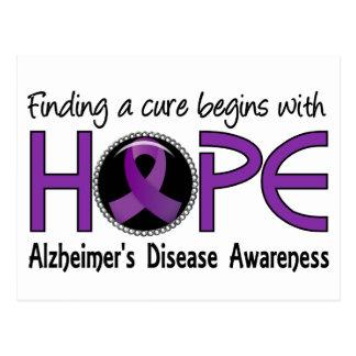 Cure Begins With Hope 5 Alzheimer's Disease Postcard