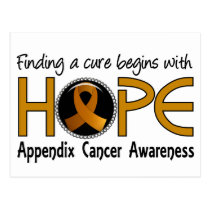 Cure Begins With Hope 5 Appendix Cancer Postcard