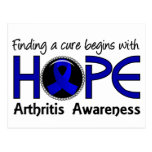 Cure Begins With Hope 5 Arthritis Postcard