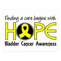 Cure Begins With Hope 5 Bladder Cancer Postcard