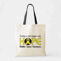 Cure Begins With Hope 5 Bladder Cancer Tote Bag