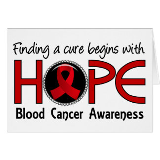 Cure Begins With Hope 5 Blood Cancer Greeting Card