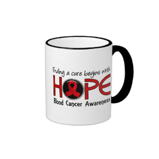 Cure Begins With Hope 5 Blood Cancer Ringer Coffee Mug