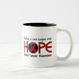 Cure Begins With Hope 5 Blood Cancer Two-Tone Coffee Mug