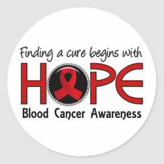 Cure Begins With Hope 5 Blood Cancer Classic Round Sticker