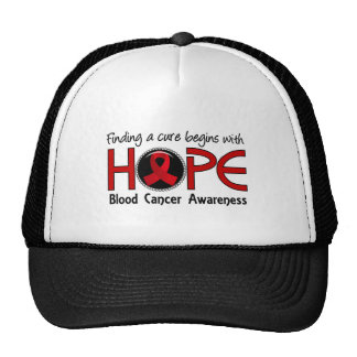 Cure Begins With Hope 5 Blood Cancer Trucker Hat