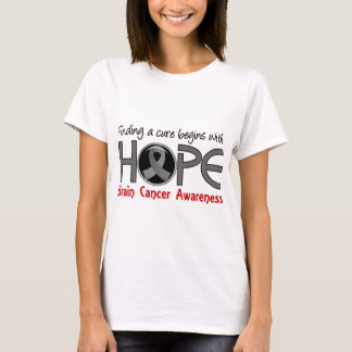 Cure Begins With Hope 5 Brain Cancer T-Shirt