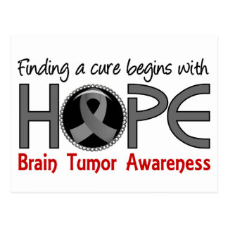 Cure Begins With Hope 5 Brain Tumor Postcard