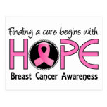 Cure Begins With Hope 5 Breast Cancer Post Card