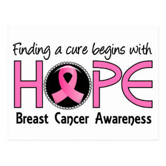 Cure Begins With Hope 5 Breast Cancer Postcard