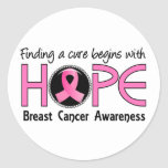 Cure Begins With Hope 5 Breast Cancer Sticker