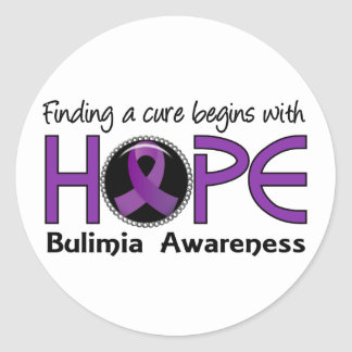 Cure Begins With Hope 5 Bulimia Stickers