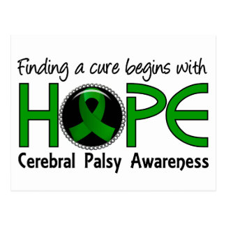 Cure Begins With Hope 5 Cerebral Palsy Postcard