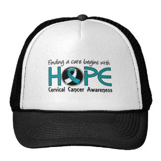 Cure Begins With Hope 5 Cervical Cancer Mesh Hat