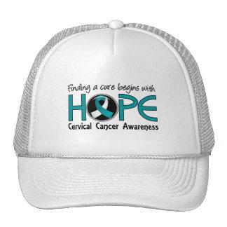 Cure Begins With Hope 5 Cervical Cancer Trucker Hat