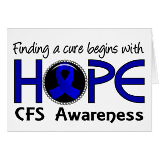 Cure Begins With Hope 5 CFS Card