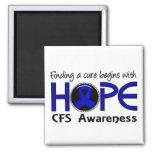 Cure Begins With Hope 5 CFS Fridge Magnet