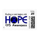 Cure Begins With Hope 5 CFS Postage Stamps