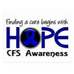 Cure Begins With Hope 5 CFS Postcard