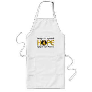 Cure Begins With Hope 5 Childhood Cancer Long Apron