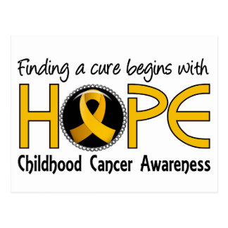 Cure Begins With Hope 5 Childhood Cancer Postcard